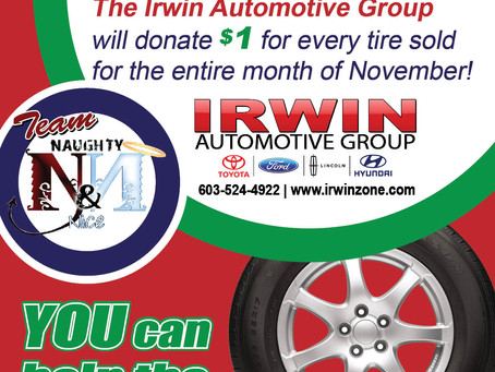 Irwin Automotive donates a $1 for every tire sold in November