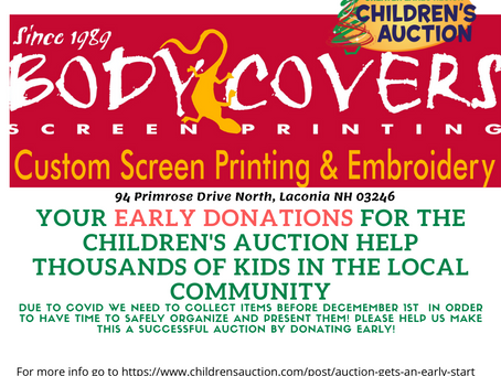 Body Covers is a collection site for the 2020 Children's Auction