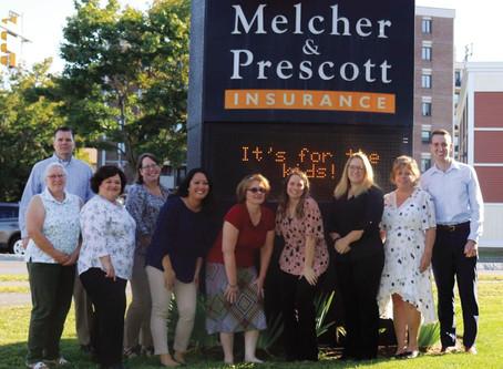 Melcher & Prescott Insurance joins the Community Challenge