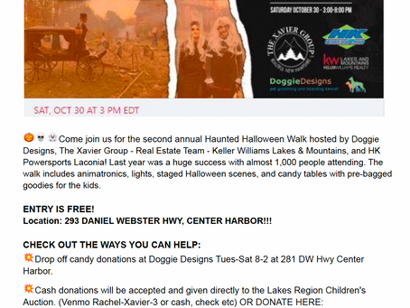 Annual Haunted Halloween Walk to Benefit the Children's Auction on Saturday, Oct 30th 3PM-8PM
