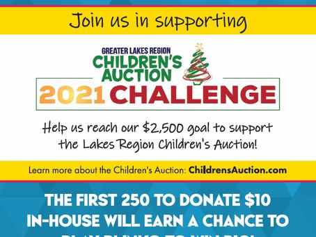 Laconia T-BONES & Cactus Jack's supporting The Children's Auction!