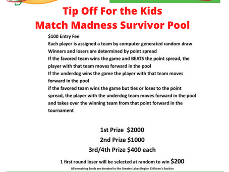 Great opportunity to win some money and help the kids at the same time!