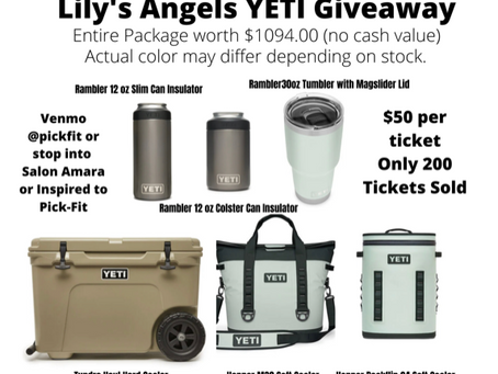 Lily's Angels YETI Raffle worth over $1,000!