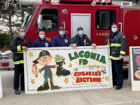 Laconia Fire Department Collects Items for the Children's Auction