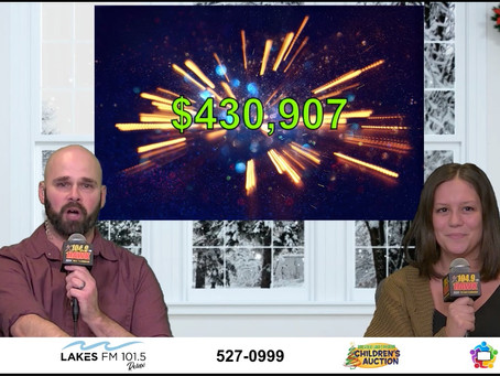 The Greater Lakes Region Auction brings in an impressive $430,907!
