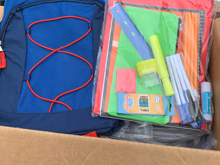 Backpacks Generously Donated by Verizon