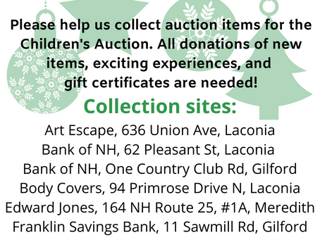 Please help us by donating items for the Children's Auction