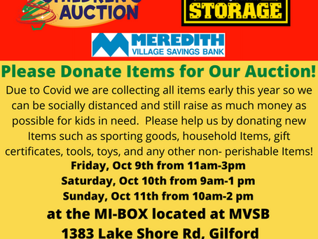 Collection for Children's Auction
