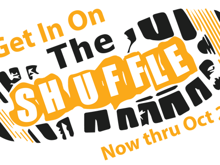 Shuffling this Wednesday from home or at Smith Track at Opechee Park between 5-6pm!