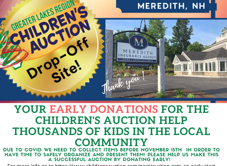 Meredith Insurance is a collection site for the Auction!