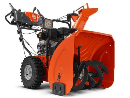 MB Tractor donates 4 Husqvarna ST227P snow blowers!