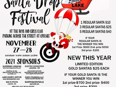 Santa Drop Festival hosted by Ladies of the Lakes Nov 27-28th
