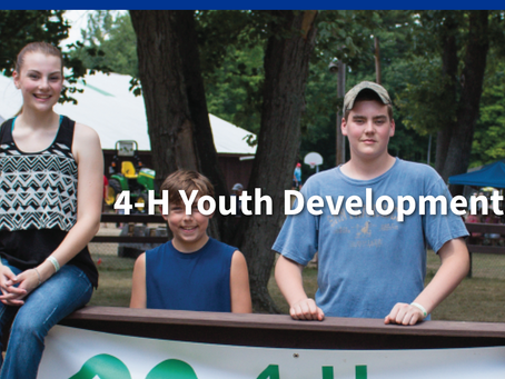 4-H helps young people develop and grow!