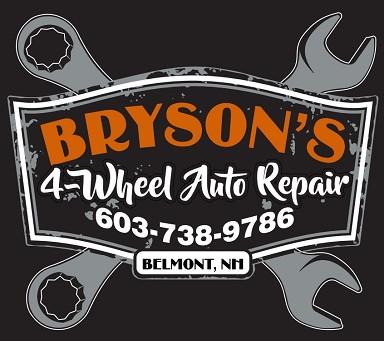 Welcome Bryson's 4-Wheel Auto Repair as a 2020 Auction Sponsor!