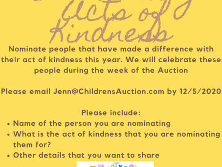 Nominate people for our Acts of Kindness Celebration