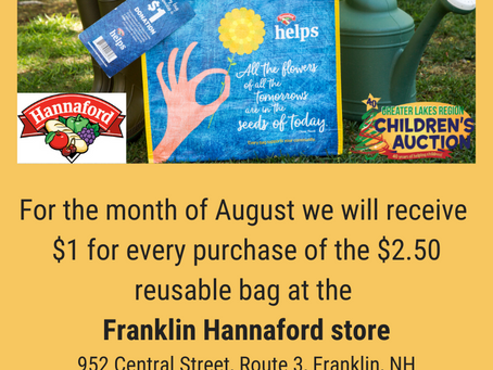 Get a community bag at Franklin Hannaford and support the Auction