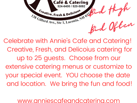 Annie's Cafe and Catering for 25 Guests!