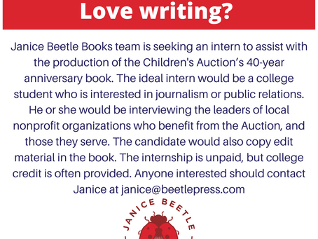 Intern opportunity for college student who loves writing