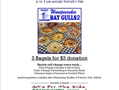 Get your yummy bagels tonight after the Community Challenge Shuffle!