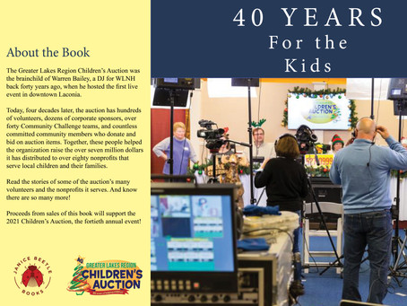 """Proceeds from the sale of """"40 Years for the Kids"""" will benefit the Children's Auction, Order Now!"""