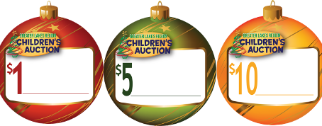 Look at all the places you can buy and support the Children's Auction Ornament Program!