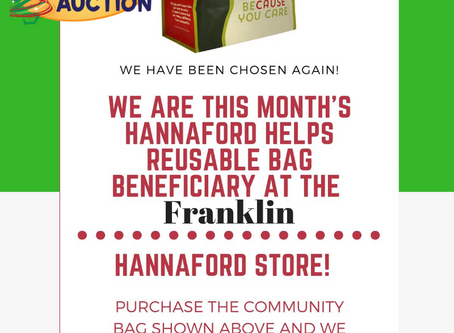 Hannaford chooses Children's Auction as the Community Bag recipient for month of September
