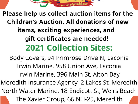 Never too early to start collecting items for the Auction!