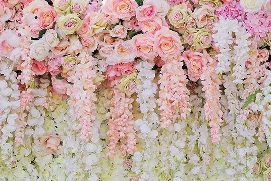 wedding flower decoration  . flower back