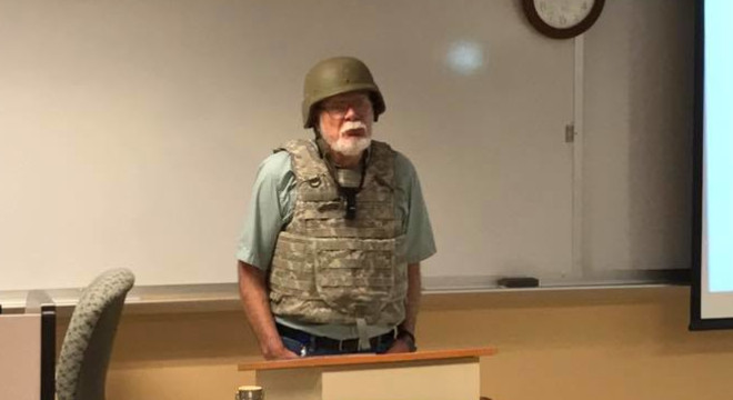 Charles K. Smith, community college professor who is really scared of law-abiding gun owners
