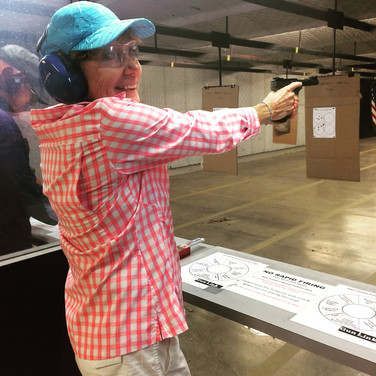 All smiles, because shooting is FUN!