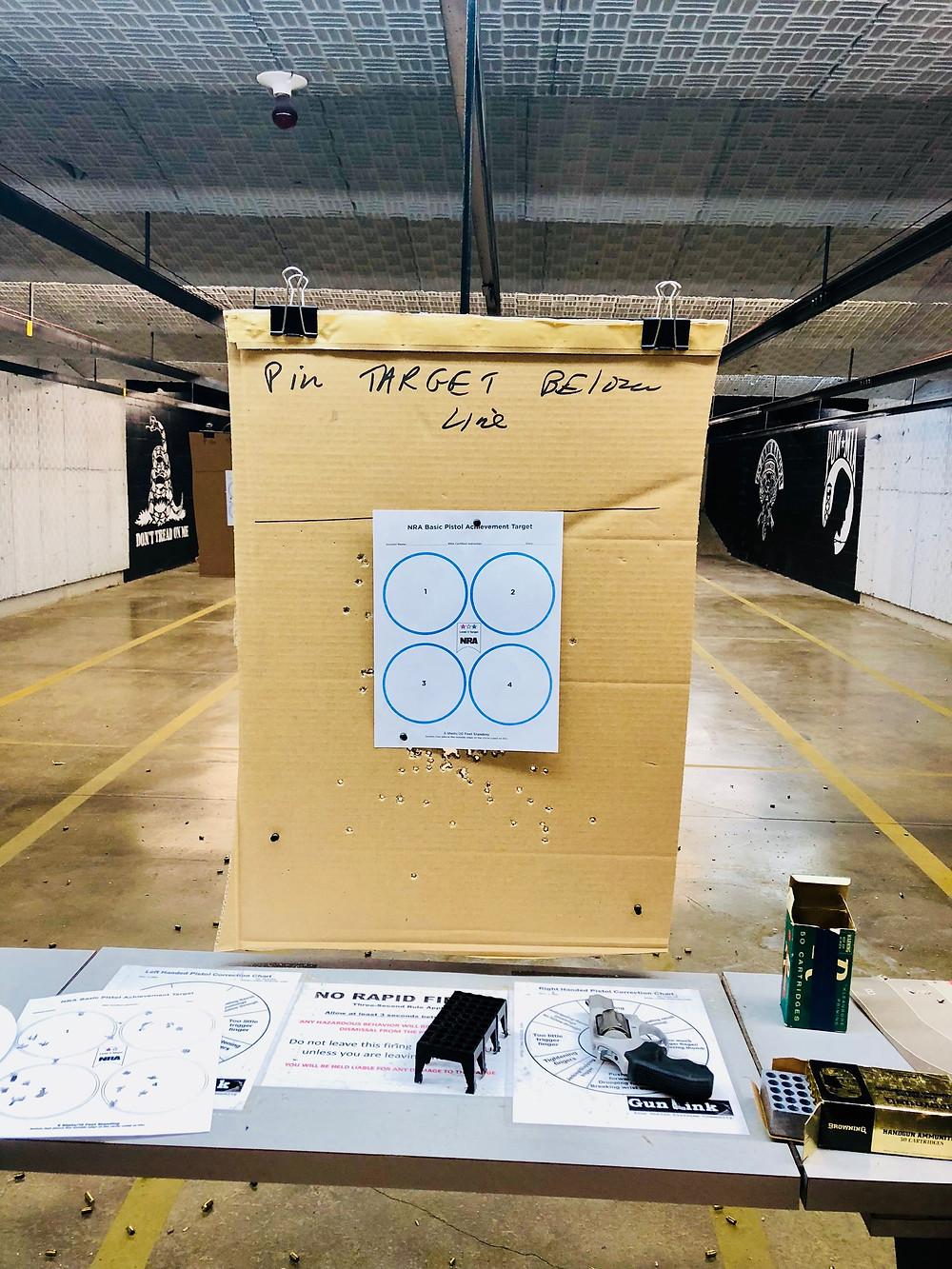 NRA Basic Pistol Level 2 (blue) qualification target