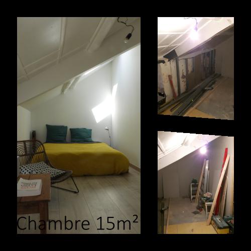 Création d'une chambre de 15m² dans une maison de campagne