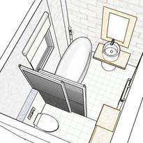 Création d'une salle-de-bain dans une maison en rénovation