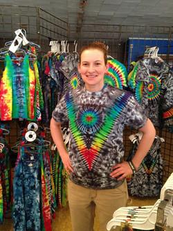 Tshirt Deep V Rainbow