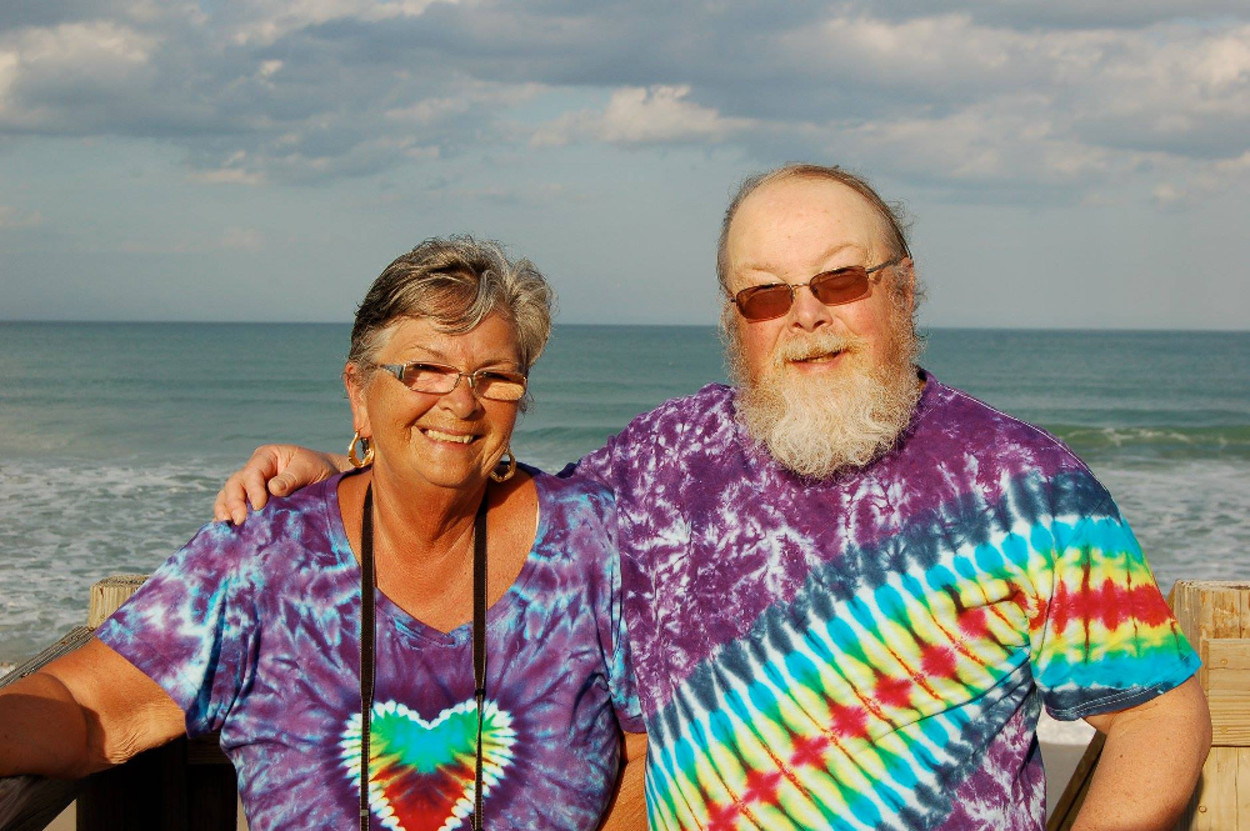 Happy Couple in Tie Dye