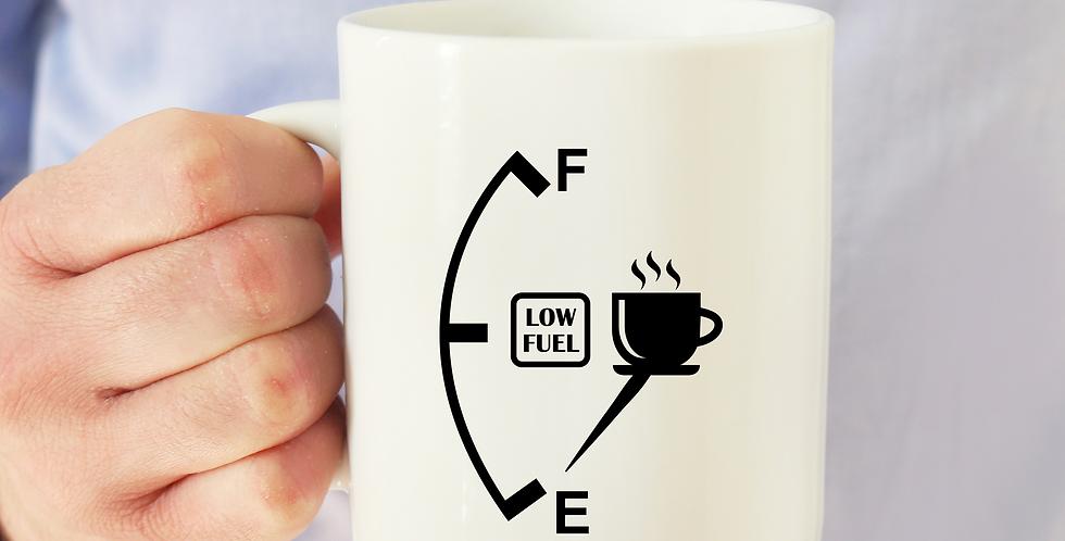 Low Fuel - 11oz White Ceramic Mug