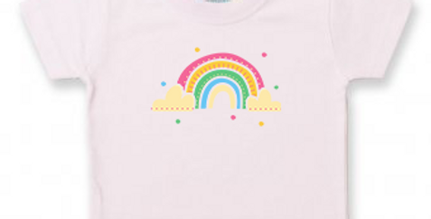 Rainbow - Baby/Toddler Light Pink T-Shirt
