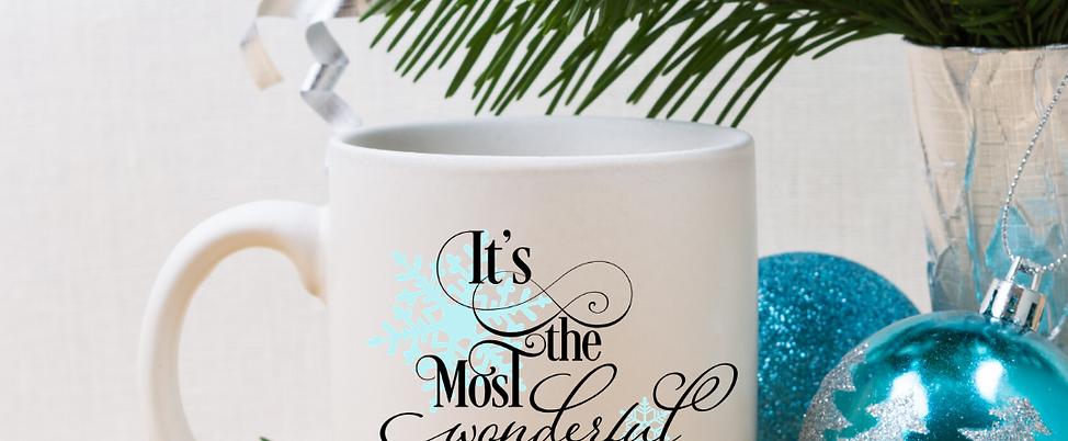 It's The Most Wonderful Time of the Year - 11oz White Ceramic Mug