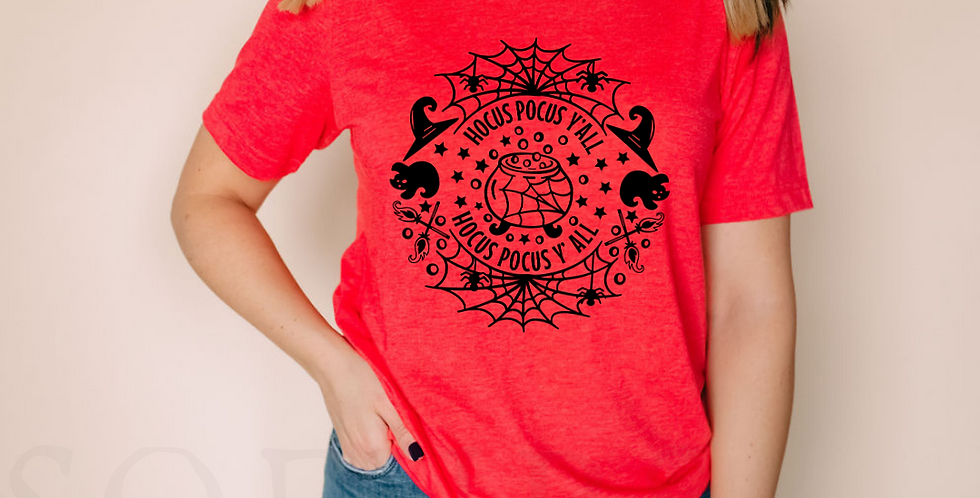 Hocus Pocus Y'all - Red T-Shirt