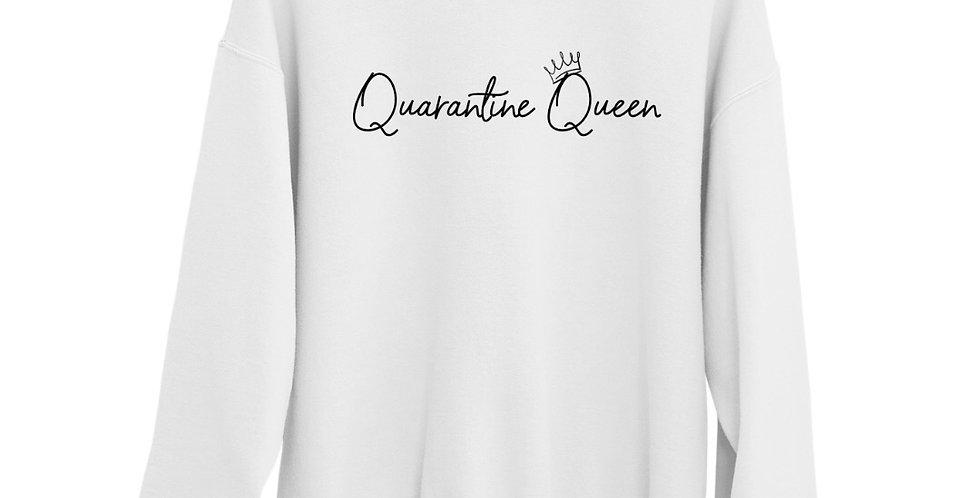 Quarantine Queen - White Organic Blend Sweatshirt