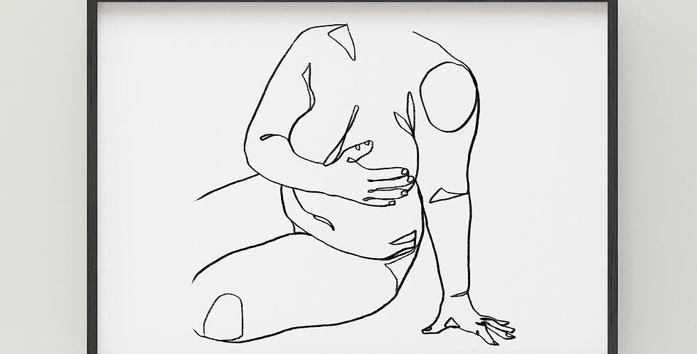 Body Positive Line Art - Horizontal Print