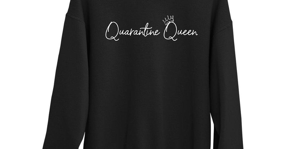 Quarantine Queen - Black Organic Blend Sweatshirt