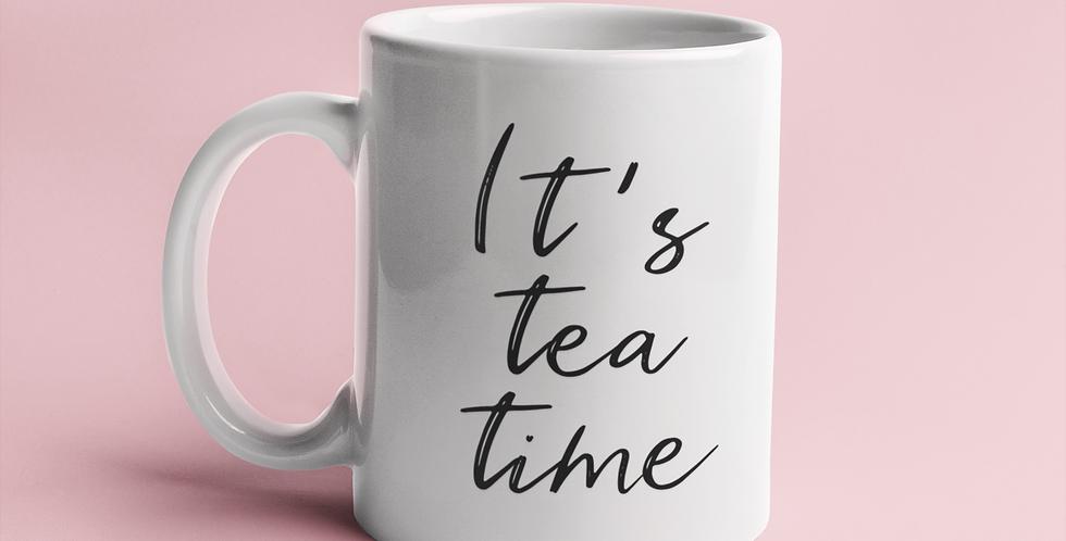 It's Tea Time - 11oz White Ceramic Mug