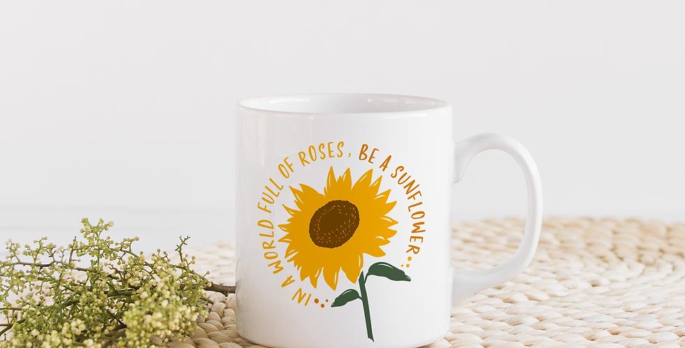Be a Sunflower - 11oz White Ceramic Mug
