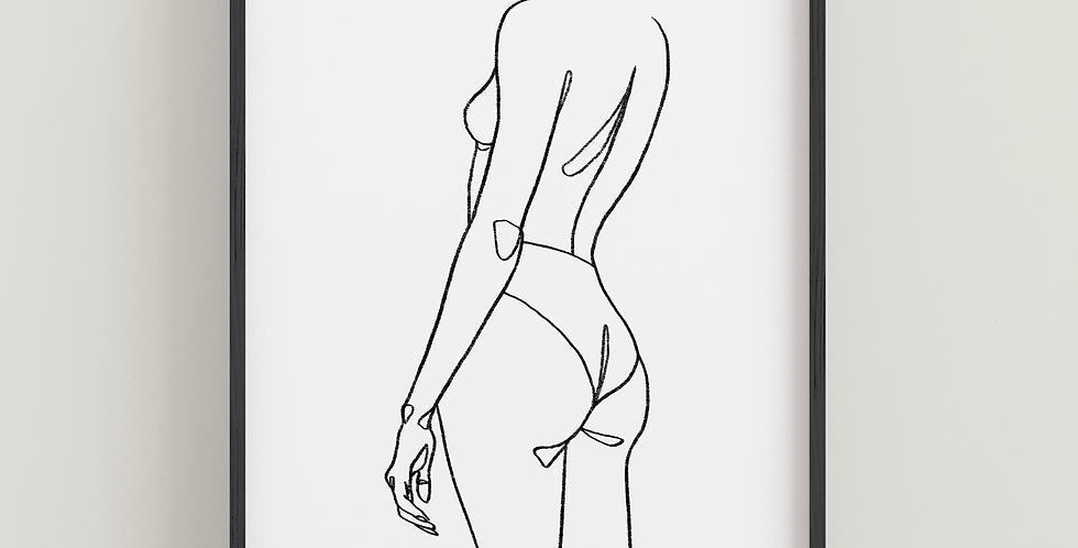 Body Positive Line Art - Portrait Print