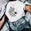 Thumbnail: Skull With Roses - White T-Shirt
