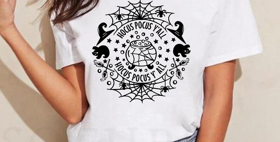 Hocus Pocus Y'all - White T-Shirt