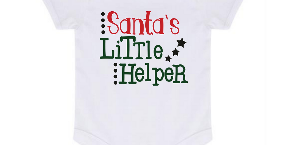 Santa's Little Helper - Baby Bodysuit