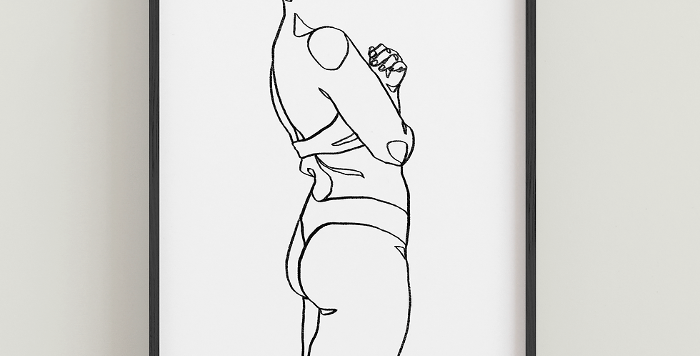 Body Positive Line Art - Portrait Print