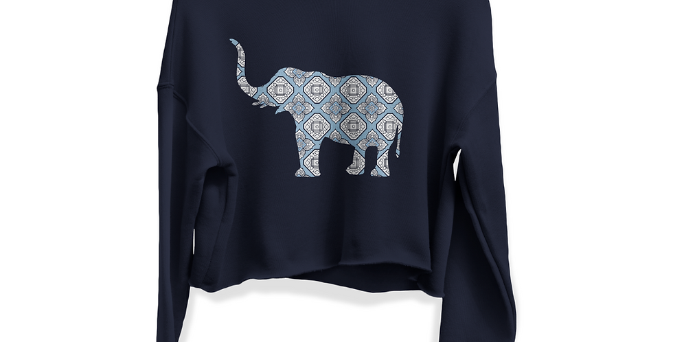 Elephant - Cropped Sweatshirt